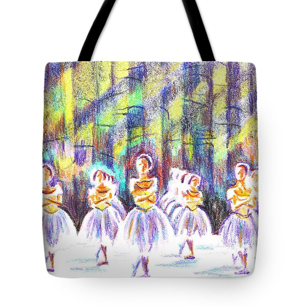 Dancers In The Forest Tote Bag by Kip DeVore