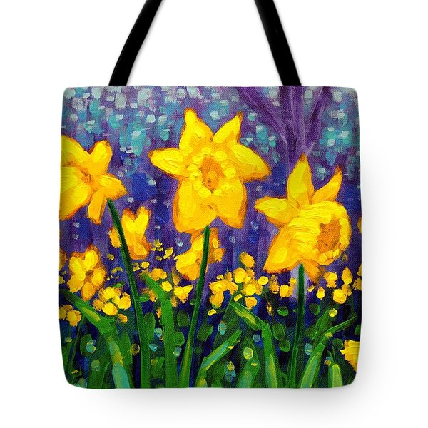 Dancing Daffodils    Cropped Tote Bag by John  Nolan