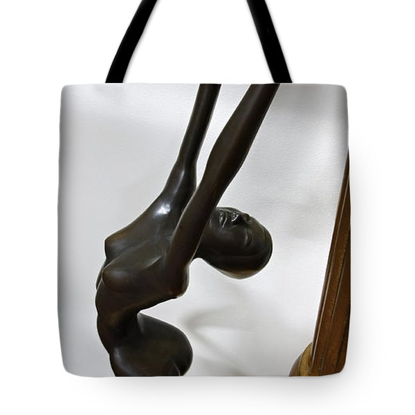 Dancing Female Figure Tote Bag by Daniel Hagerman