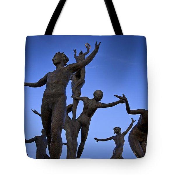 Dancing Figures Tote Bag by Brian Jannsen