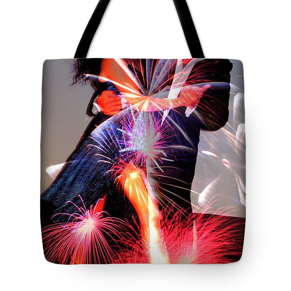 Dancing Fireworks Tote Bag by M and L Creations
