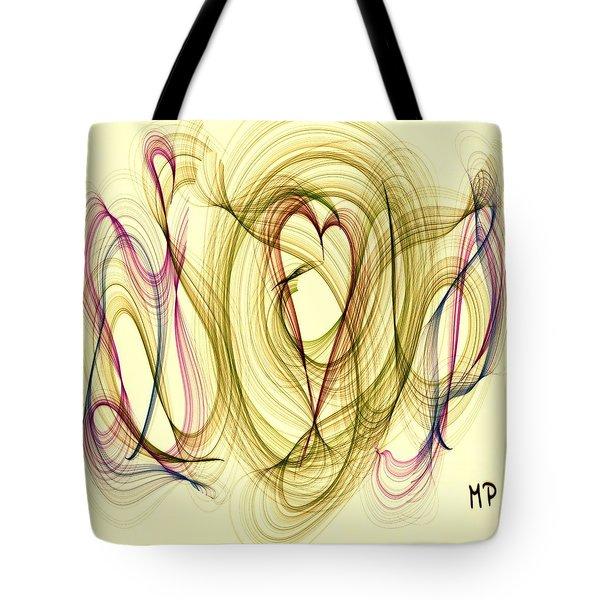 Dancing Heart Tote Bag by Marian Palucci-Lonzetta
