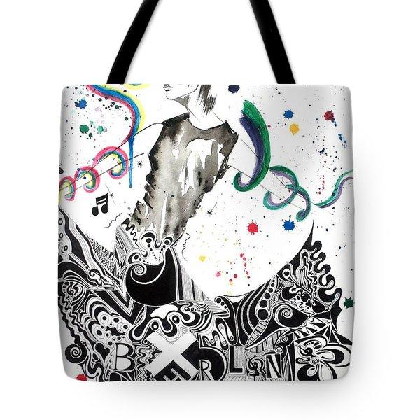 Dancing In Berlin Tote Bag by Oddball Art Co by Lizzy Love