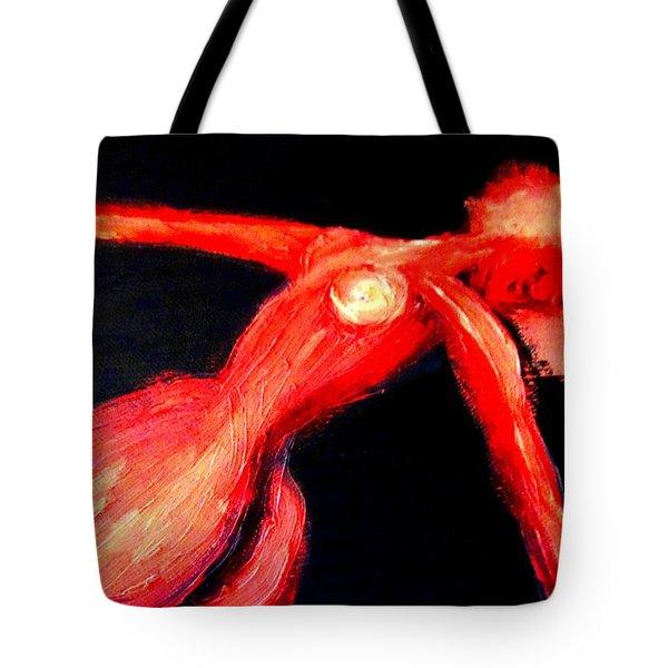 Dancing in darkness Tote Bag by Hilde Widerberg