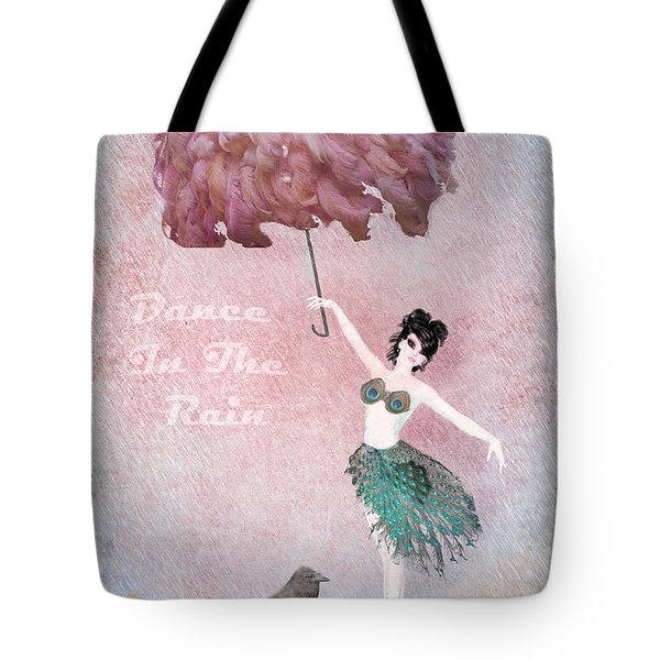 Dancing in the Rain Tote Bag by Terry Fleckney