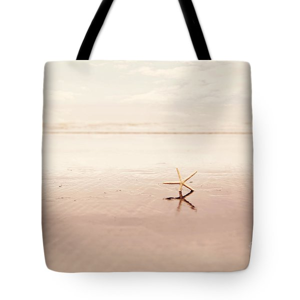 Dancing Starfish Beach Photograph Tote Bag by Sylvia Cook