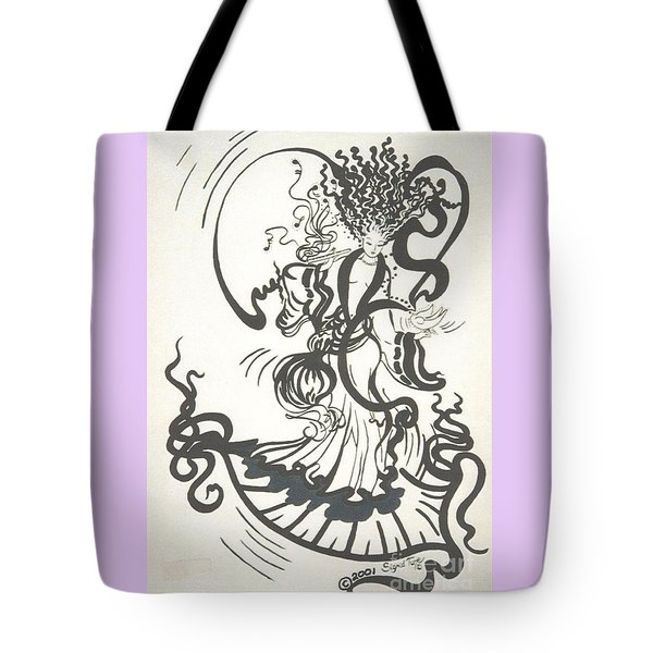 Dancing With the Muse Tote Bag by Sigrid Tune
