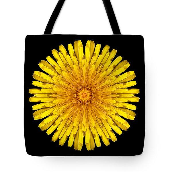 Dandelion Flower Mandala Tote Bag by David J Bookbinder