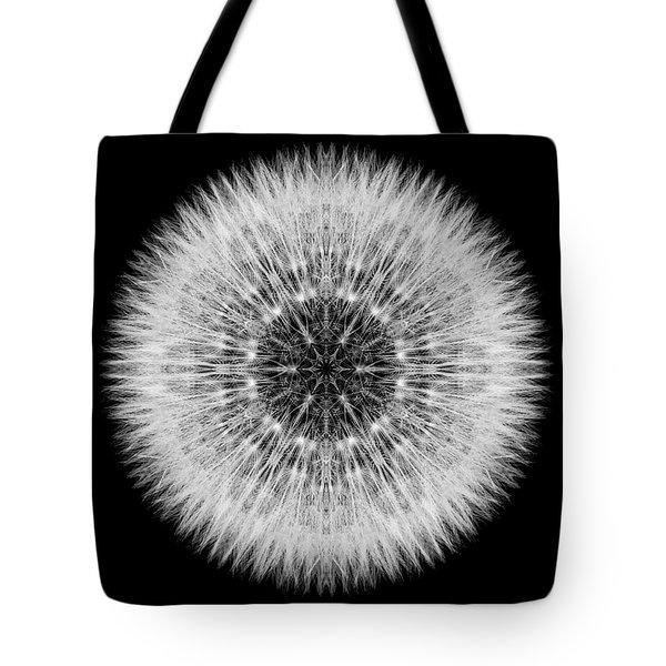 Dandelion Head Flower Mandala Tote Bag by David J Bookbinder
