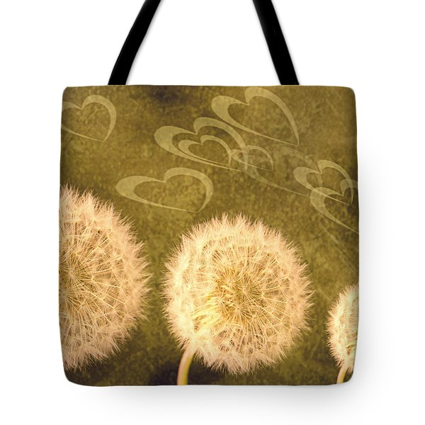 Dandelion Heads Tote Bag by Amanda And Christopher Elwell