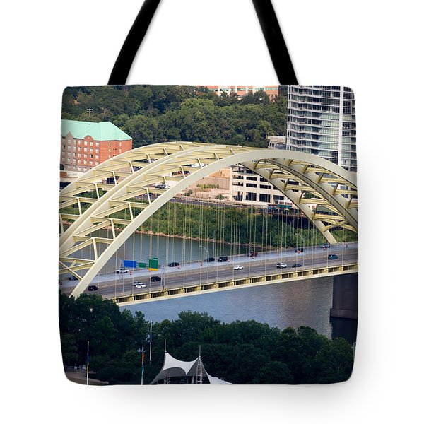 Daniel Carter Beard Bridge Cincinnati Ohio Tote Bag by Paul Velgos