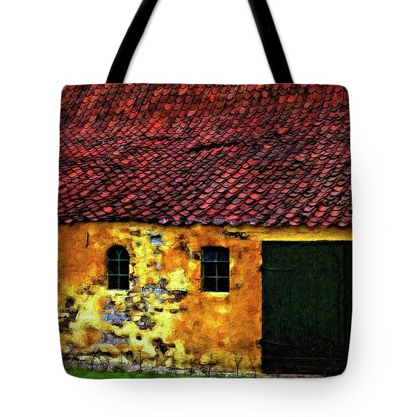 Danish Barn Impasto Version Tote Bag by Steve Harrington