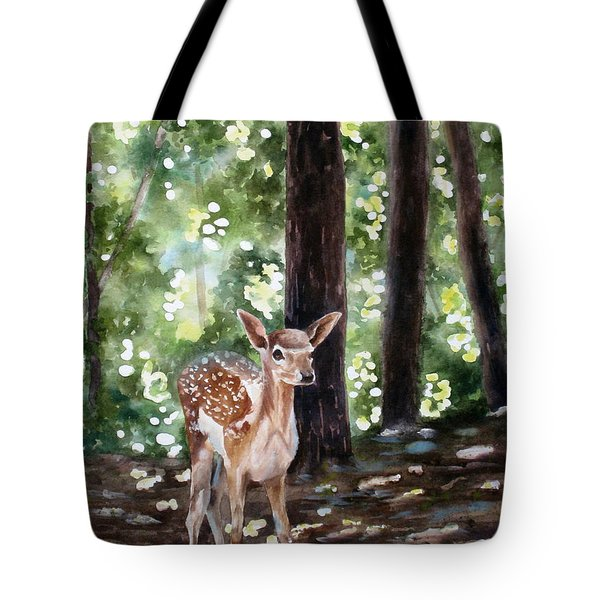 Dappled Innocence Tote Bag by Mary McCullah
