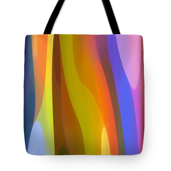 Dappled Light Panoramic Vertical 1 Tote Bag by Amy Vangsgard
