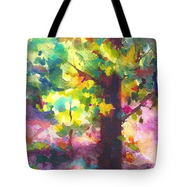 Dappled - light through tree canopy Tote Bag by Talya Johnson