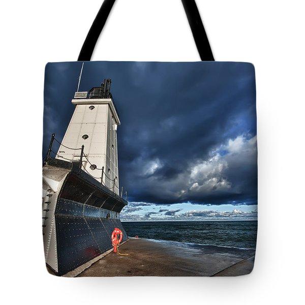 Dark Clouds Tote Bag by Sebastian Musial