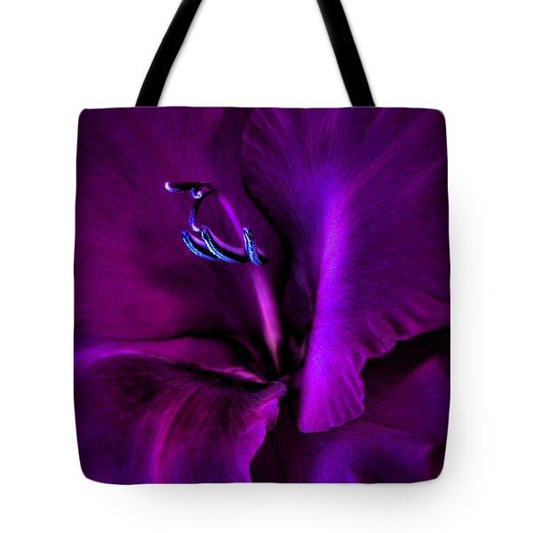 Dark Knight Purple Gladiola Flower Tote Bag by Jennie Marie Schell