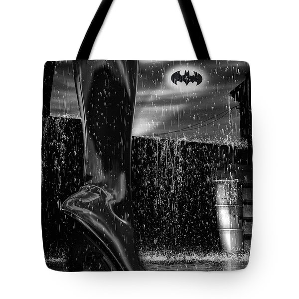 Dark Knight Shinny Boots Of  Leather Tote Bag by Bob Orsillo