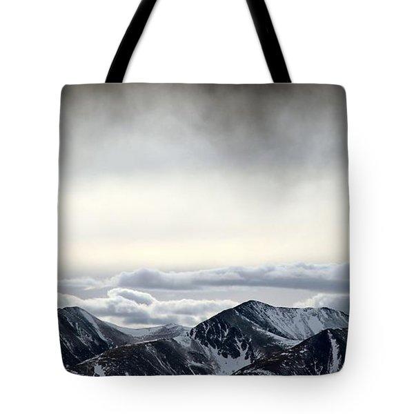 Dark Storm Cloud Mist  Tote Bag by Barbara Chichester