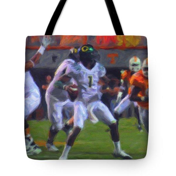 Darron Thomas Tote Bag by Michael Pickett
