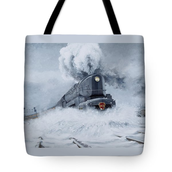 Dashing Through The Snow Tote Bag by David Mittner