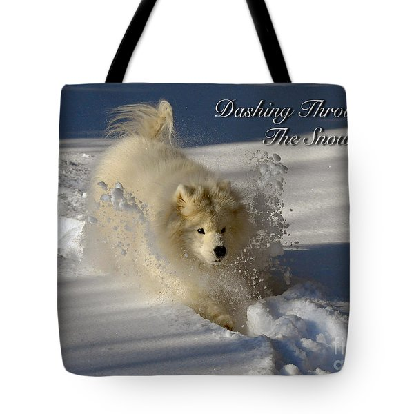 Dashing Through The Snow Tote Bag by Lois Bryan