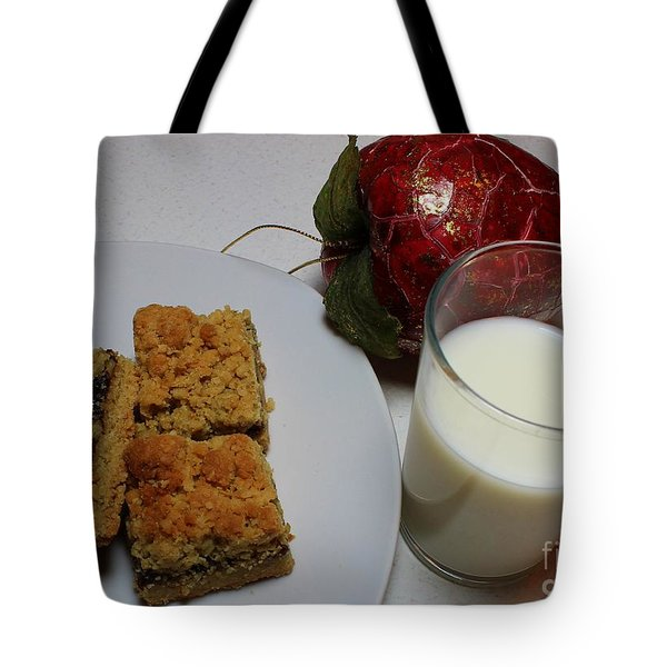 Date Squares - Snack - Dessert - Milk Tote Bag by Barbara Griffin