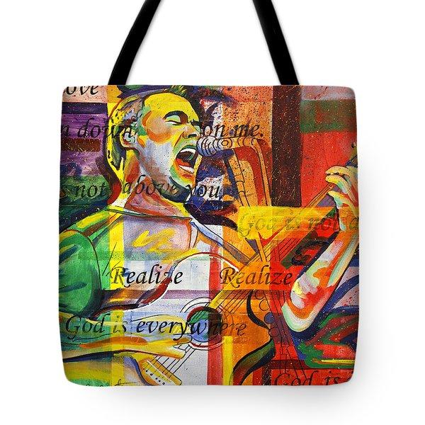 Dave Matthews-bartender Tote Bag by Joshua Morton