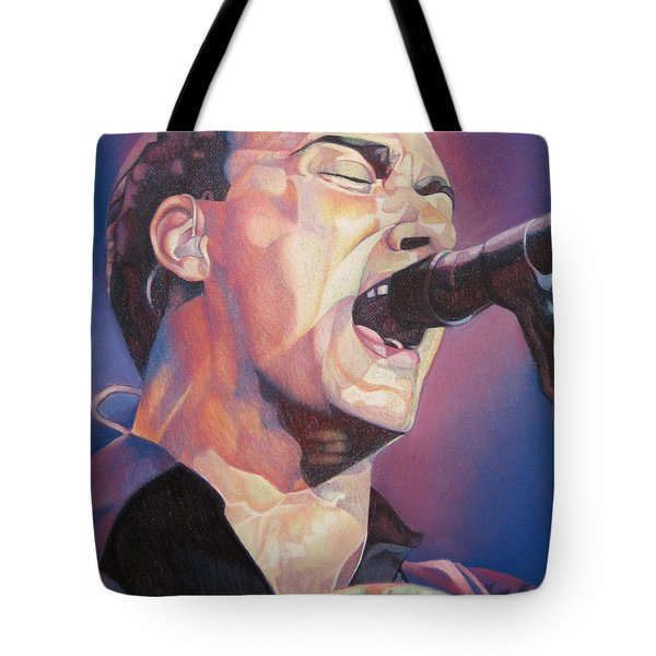 Dave Matthews Colorful Full Band Series Tote Bag by Joshua Morton