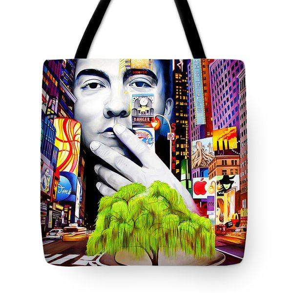 Dave Matthews Dreaming Tree Tote Bag by Joshua Morton