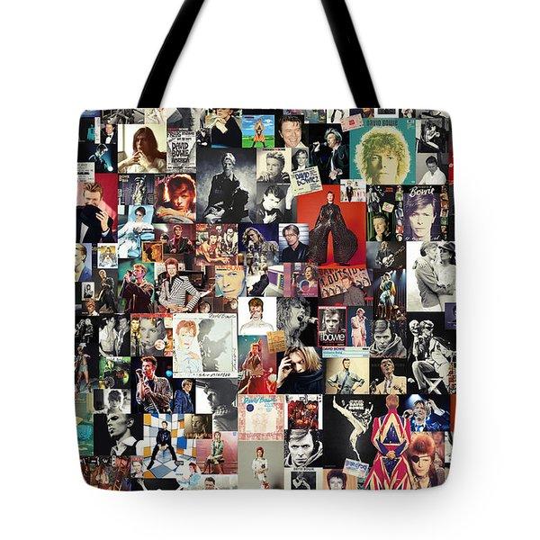 David Bowie Collage Tote Bag by Taylan Apukovska