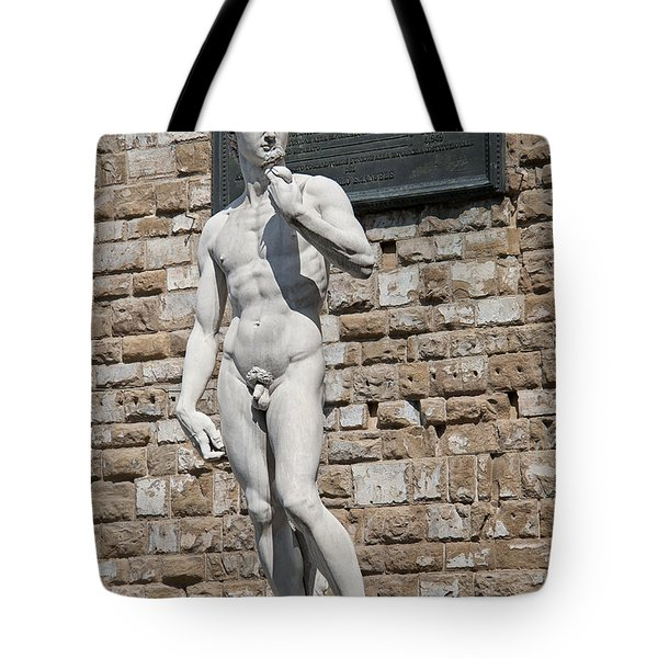 David By Michelangelo Tote Bag by Melany Sarafis