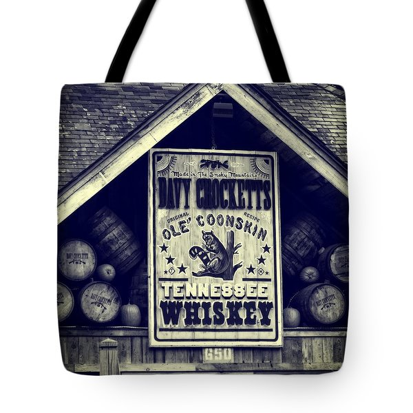 Davy Crocketts Tennessee Whiskey Tote Bag by Dan Sproul