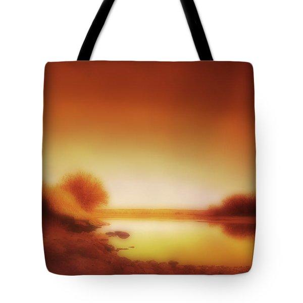 Dawn Arkansas River Tote Bag by Ann Powell