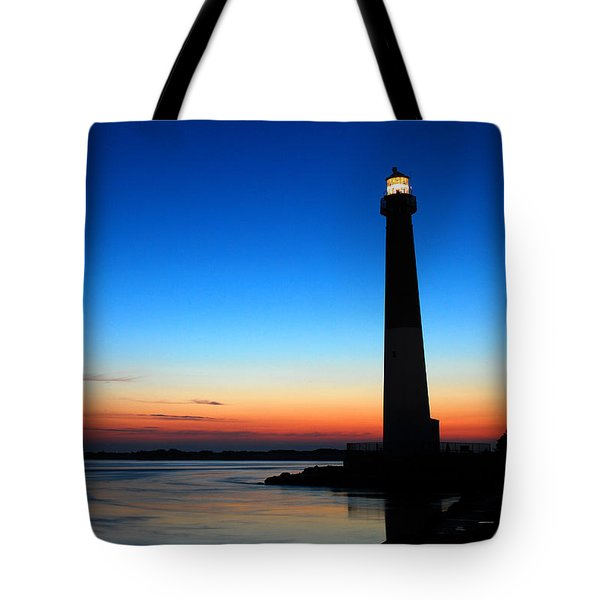 Dawn At Barnegat Light Tote Bag by James Kirkikis
