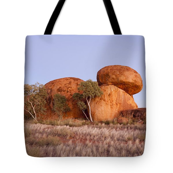 Dawn Devils Marbles Northern Territory Tote Bag by Colin and Linda McKie