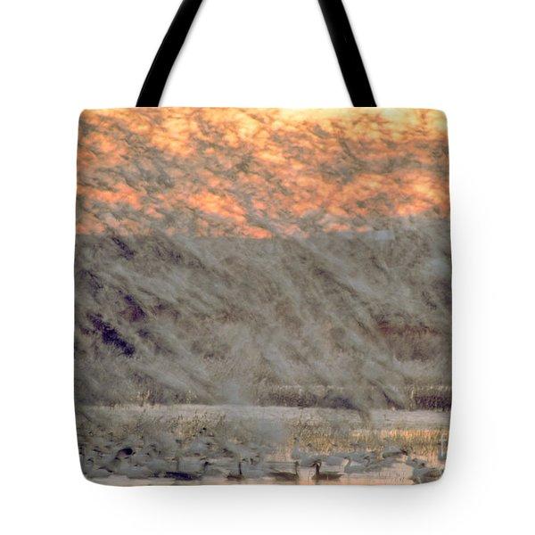 Dawn Liftoff Tote Bag by Steven Ralser