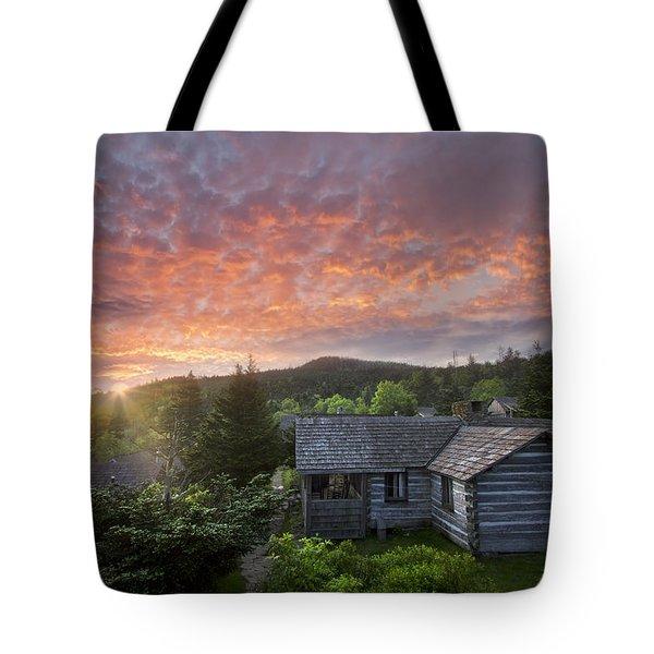 Dawn Over LeConte Tote Bag by Debra and Dave Vanderlaan