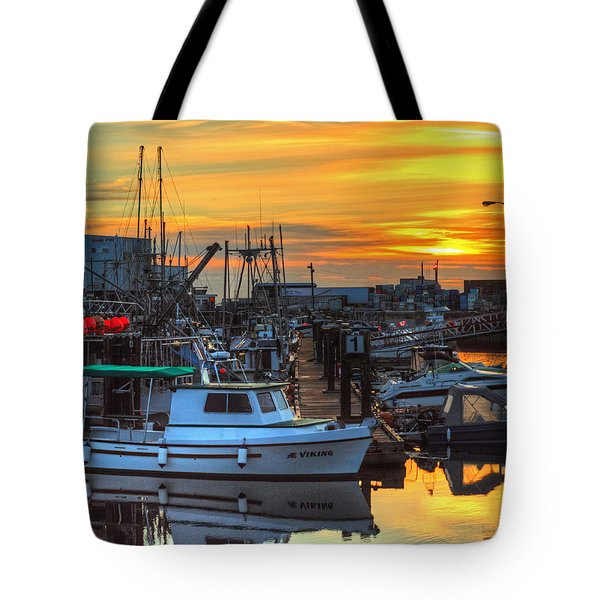 Dawn's Early Light Tote Bag by Randy Hall