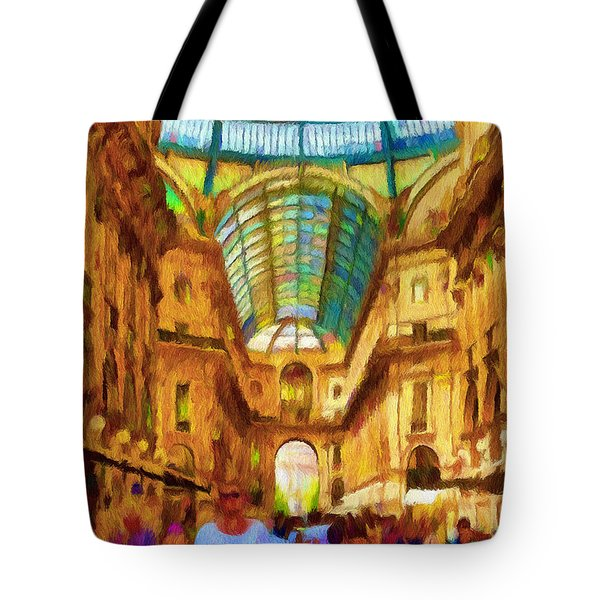 Day at the Galleria Tote Bag by Jeff Kolker