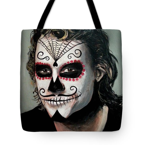 Day Of The Dead - Heath Ledger Tote Bag by Tom Carlton
