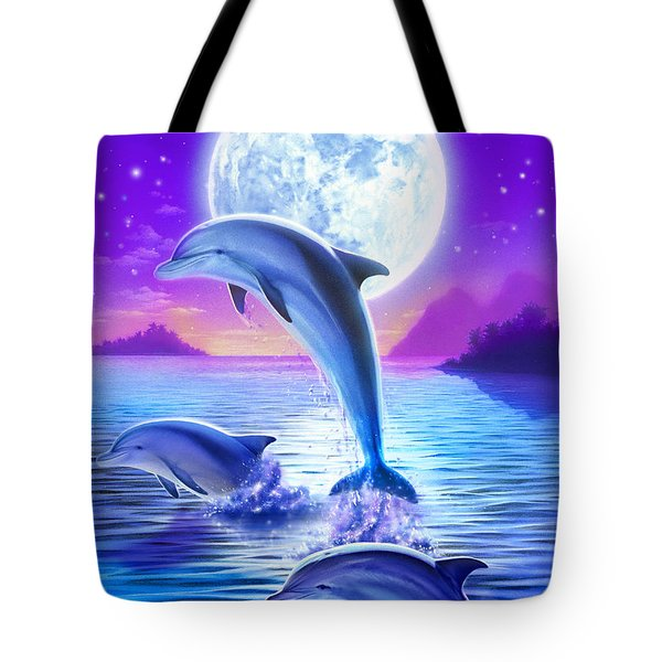 Day Of The Dolphin Tote Bag by Robin Koni