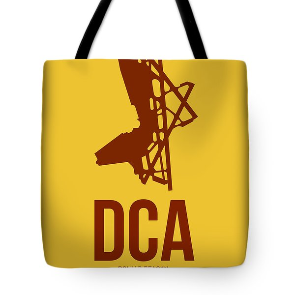 Dca Washington Airport Poster 3 Tote Bag by Naxart Studio