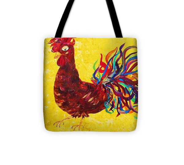 De Colores Rooster Tote Bag by Eloise Schneider