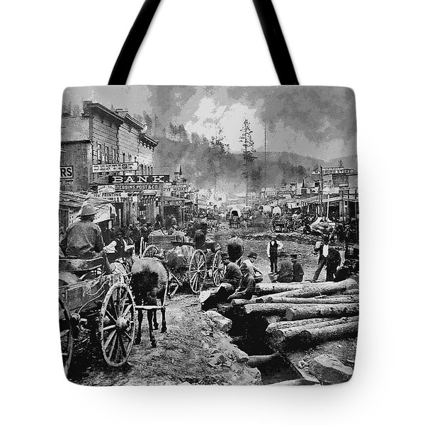 Deadwood South Dakota C. 1876 Tote Bag by Daniel Hagerman