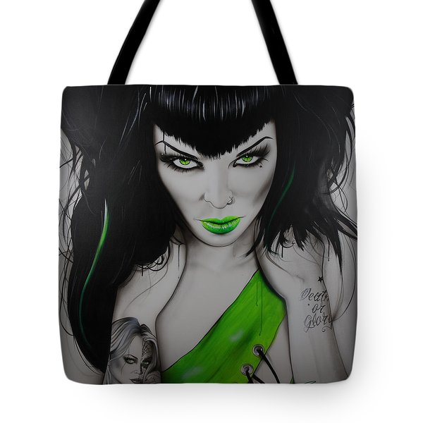 'Death or Glory' Tote Bag by Christian Chapman Art