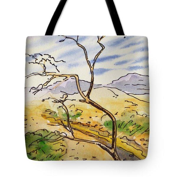 Death Valley- California Sketchbook Project Tote Bag by Irina Sztukowski
