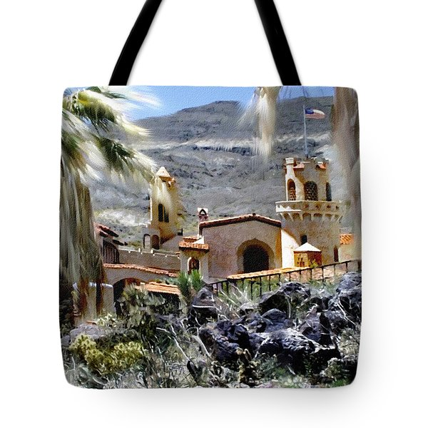 Death Valley Scotty's Castle Tote Bag by Bob and Nadine Johnston