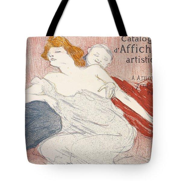 Debauche Deuxieme Planche Tote Bag by Henri de Toulouse-Lautrec