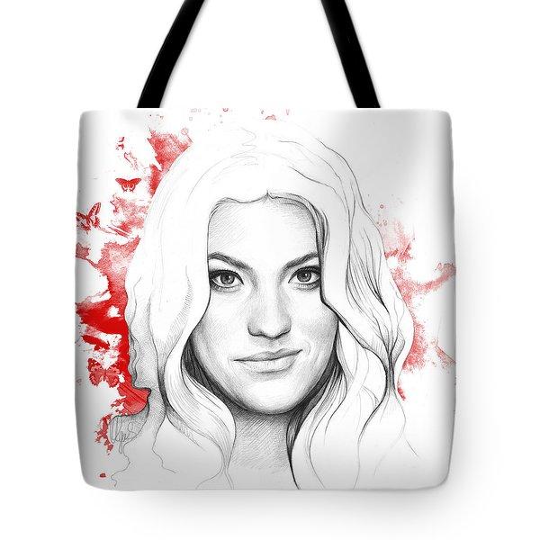 Debra Morgan - DEXTER Tote Bag by Olga Shvartsur